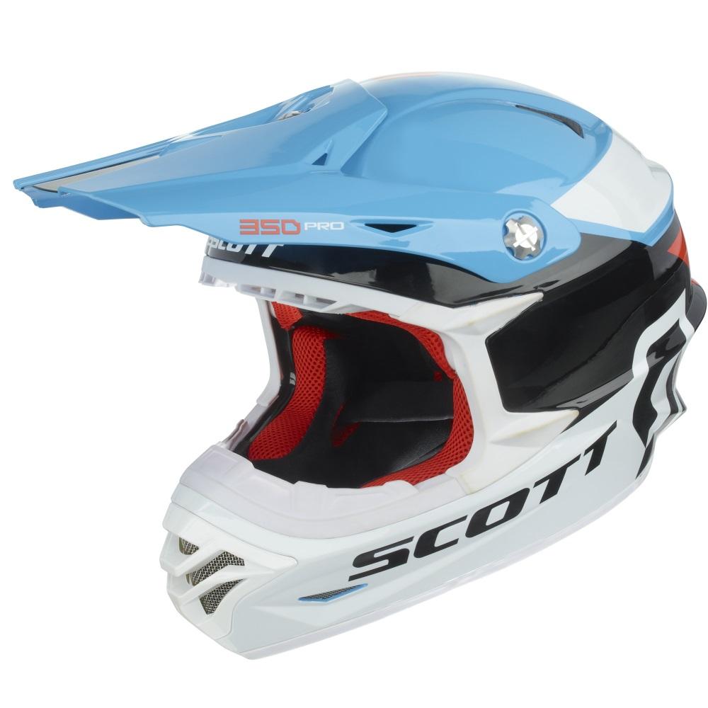 Motokrosová přilba Scott 350 Pro Race modro-oranžová - L (60)