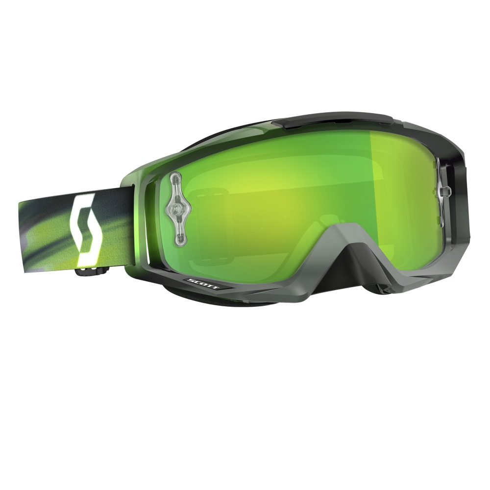 Moto brýle Scott Tyrant MXVI speed grey-green-green chrome