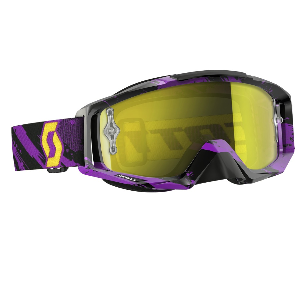 Moto brýle Scott Tyrant MXVI zebra purple-yellow-yellow chrome