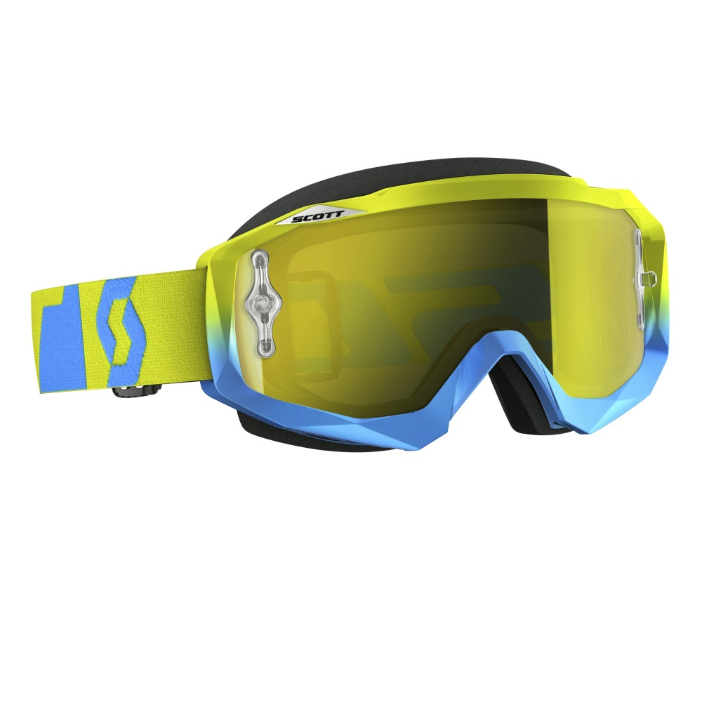 Moto brýle Scott Hustle MXVI oxide blue-green-yellow chrome