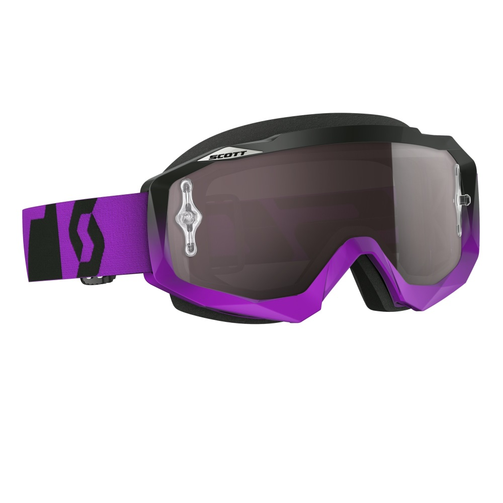 Moto brýle Scott Hustle MXVI oxide purple-black-silver chrome