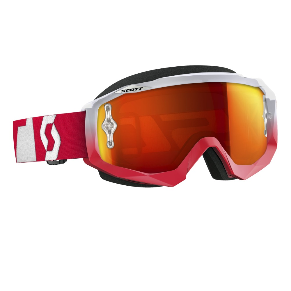 Moto brýle Scott Hustle MXVI oxide red-white-orange chrome