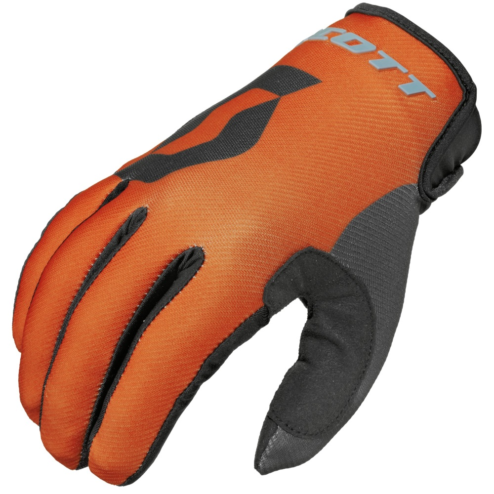 Motokrosové rukavice Scott 350 Track MXVI modro-oranžová - M