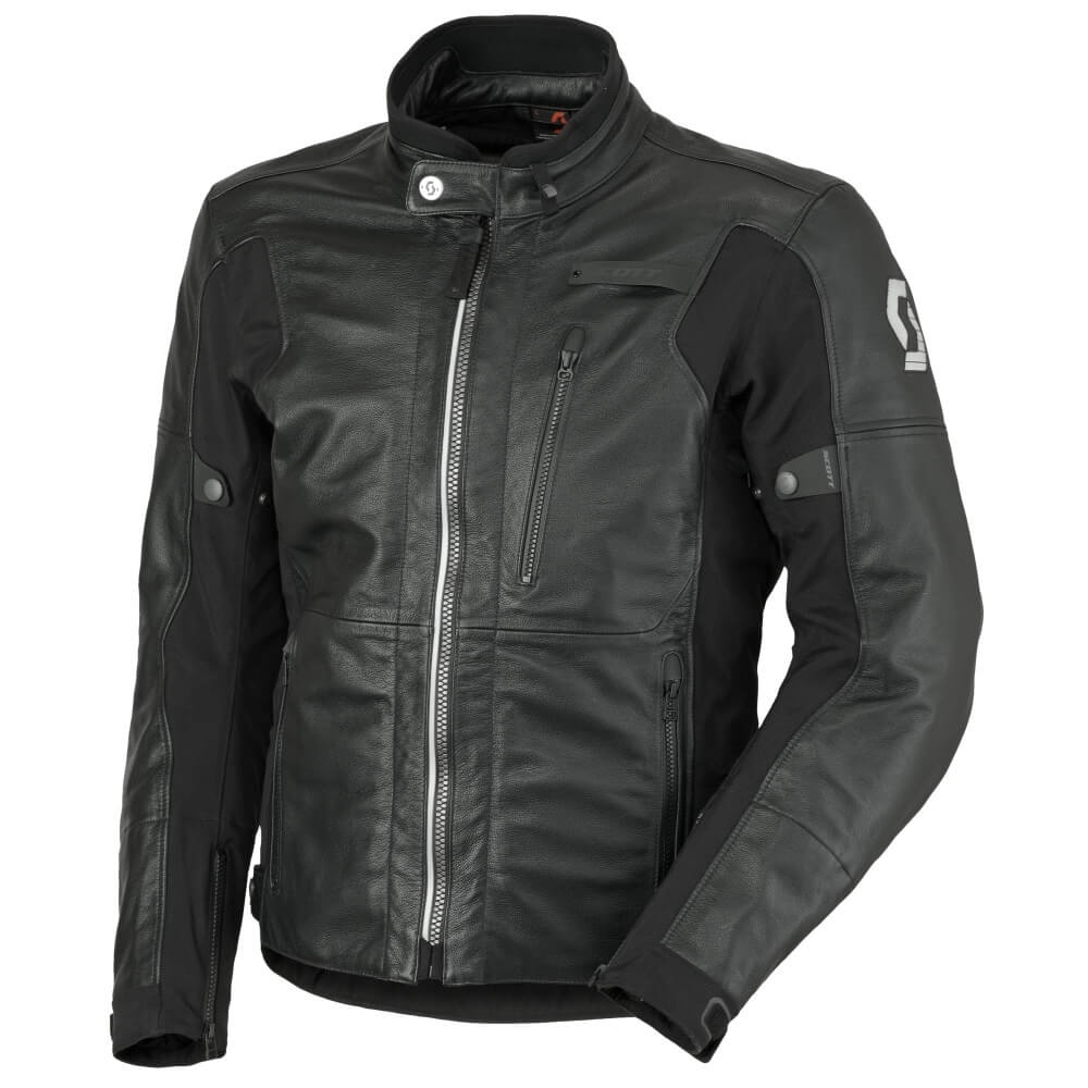 Scott MOTO Tourance Leather DP černá - M (46-48)