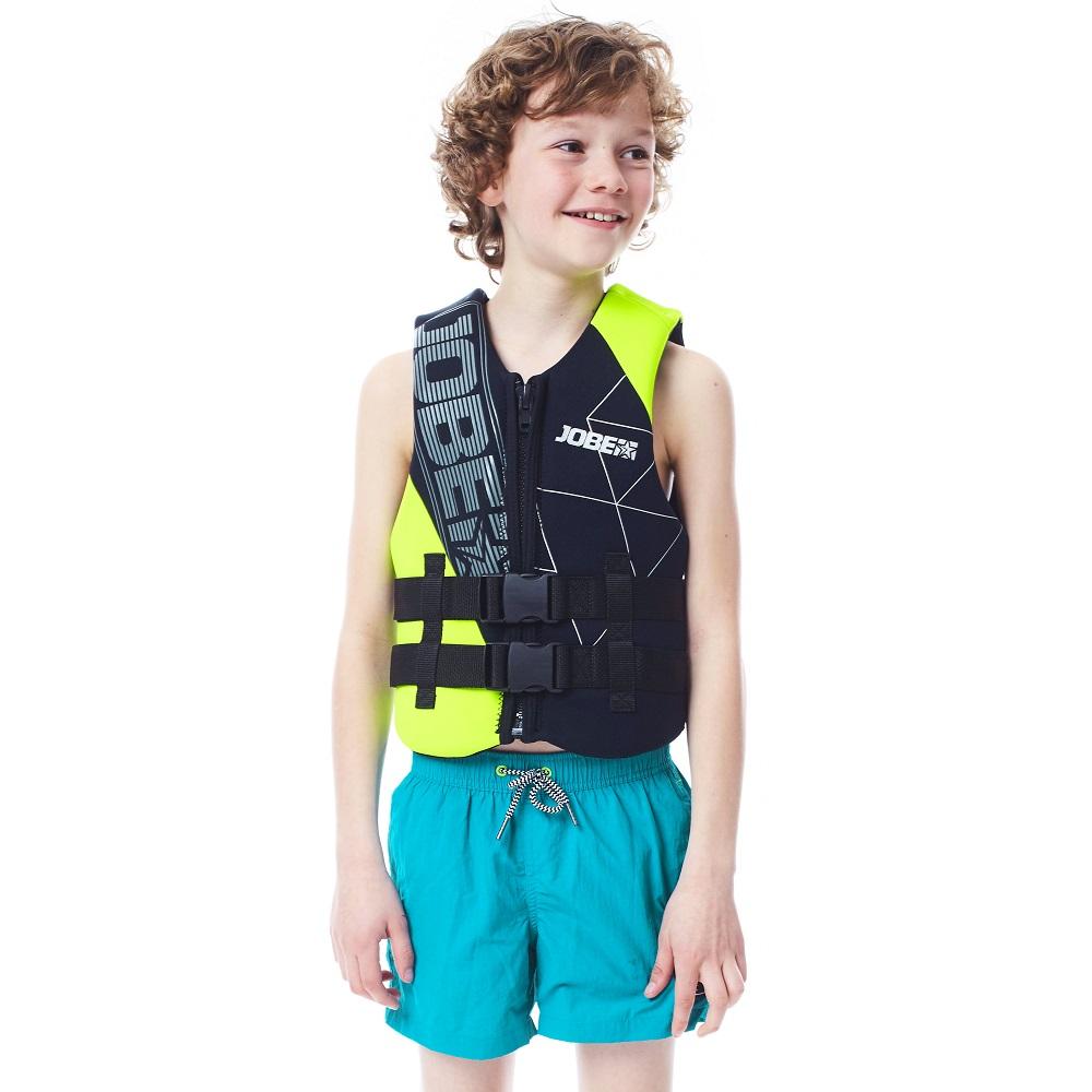 Dětská plovací vesta Jobe Neo Youth černo-zelená - XXL