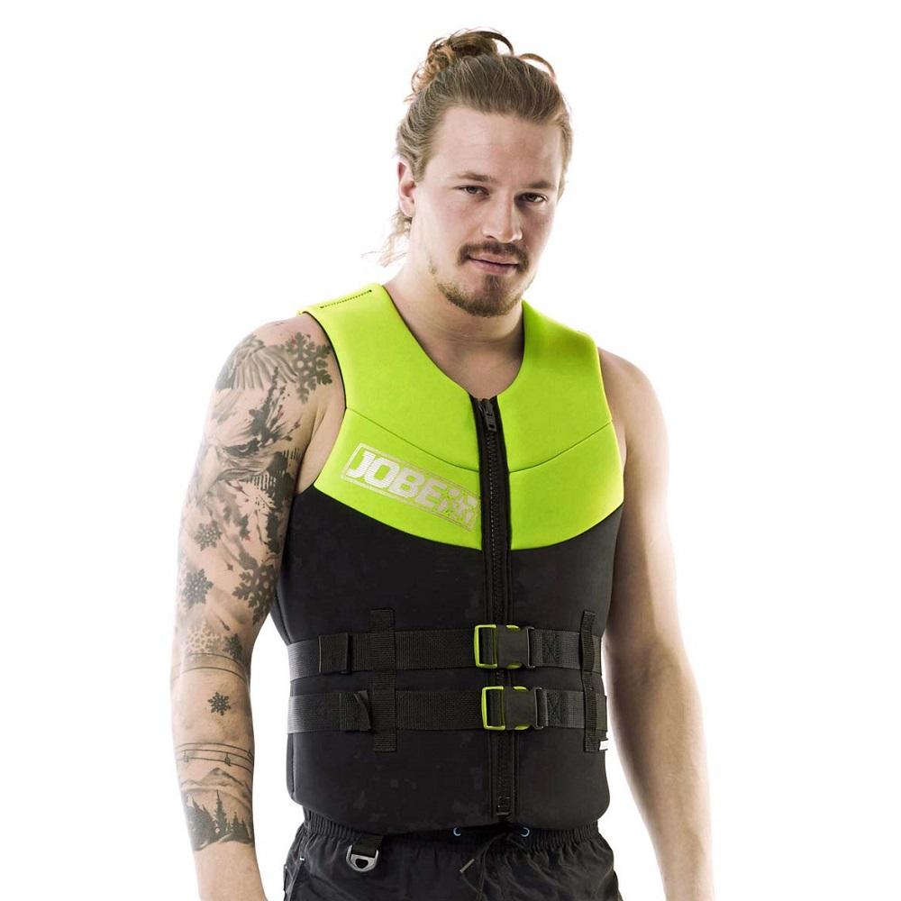 Pánská plovací vesta Jobe Men Vest lime zelená - S
