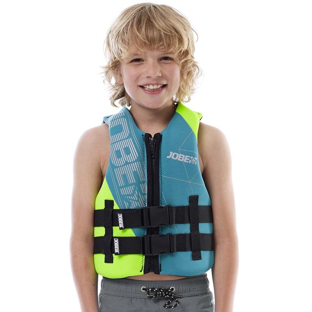 Dětská plovací vesta Jobe Youth Vest modro-zelená - S/M
