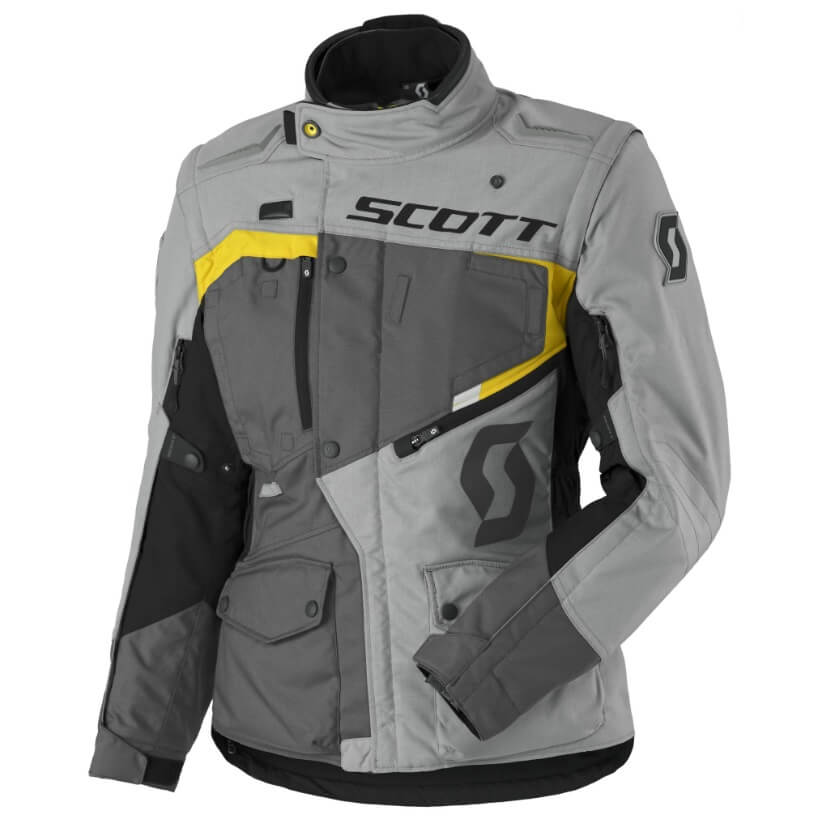 Dámská moto bunda SCOTT W's Dualraid DP MXVII Grey-Yellow - M (36)