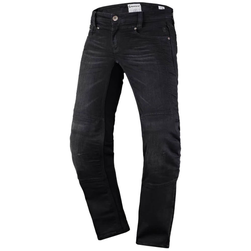 Dámské moto kalhoty SCOTT W's Denim Stretch MXVII Black - M (36)