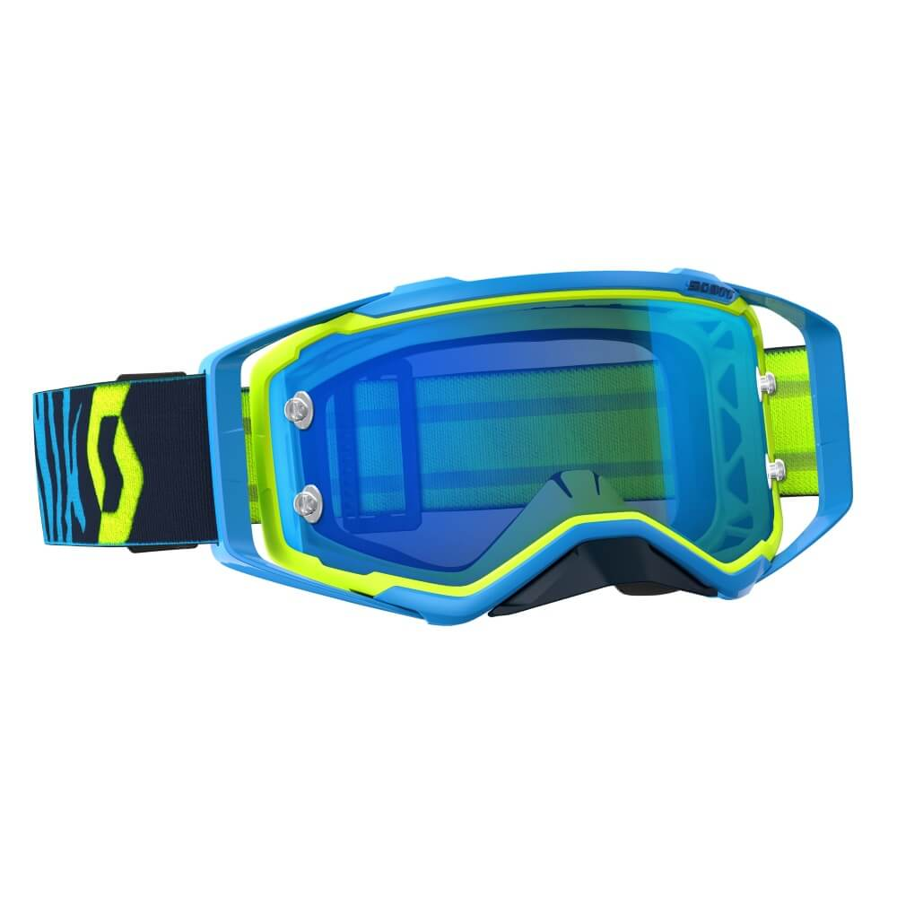Moto brýle SCOTT Prospect MXVII blue-yellow electric-blue chrome