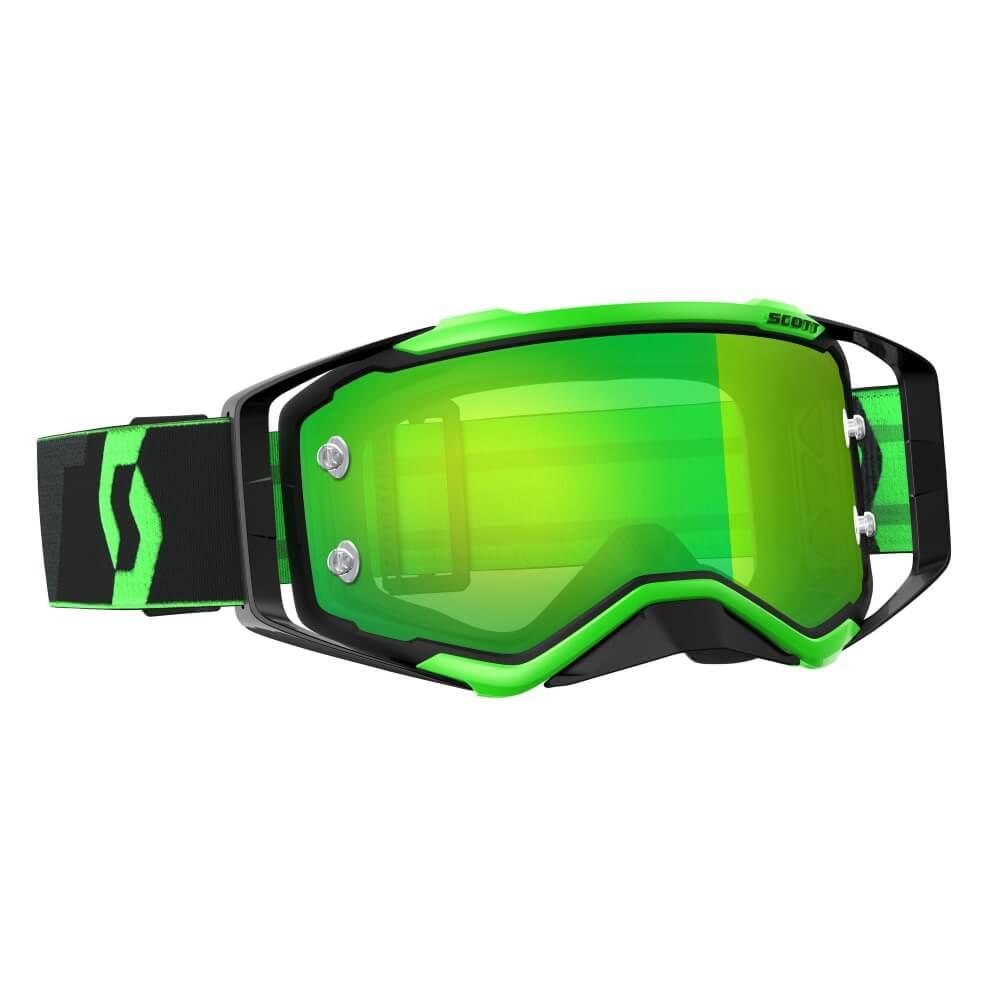 Moto brýle SCOTT Prospect MXVII black-fluo green-green chrome