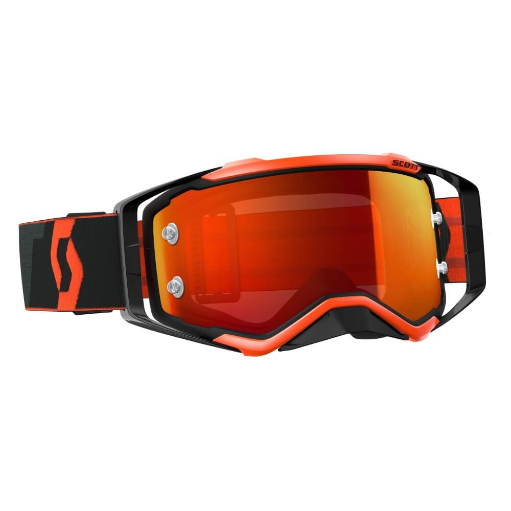 Moto brýle SCOTT Prospect MXVII black-fluo orange-orange chrome