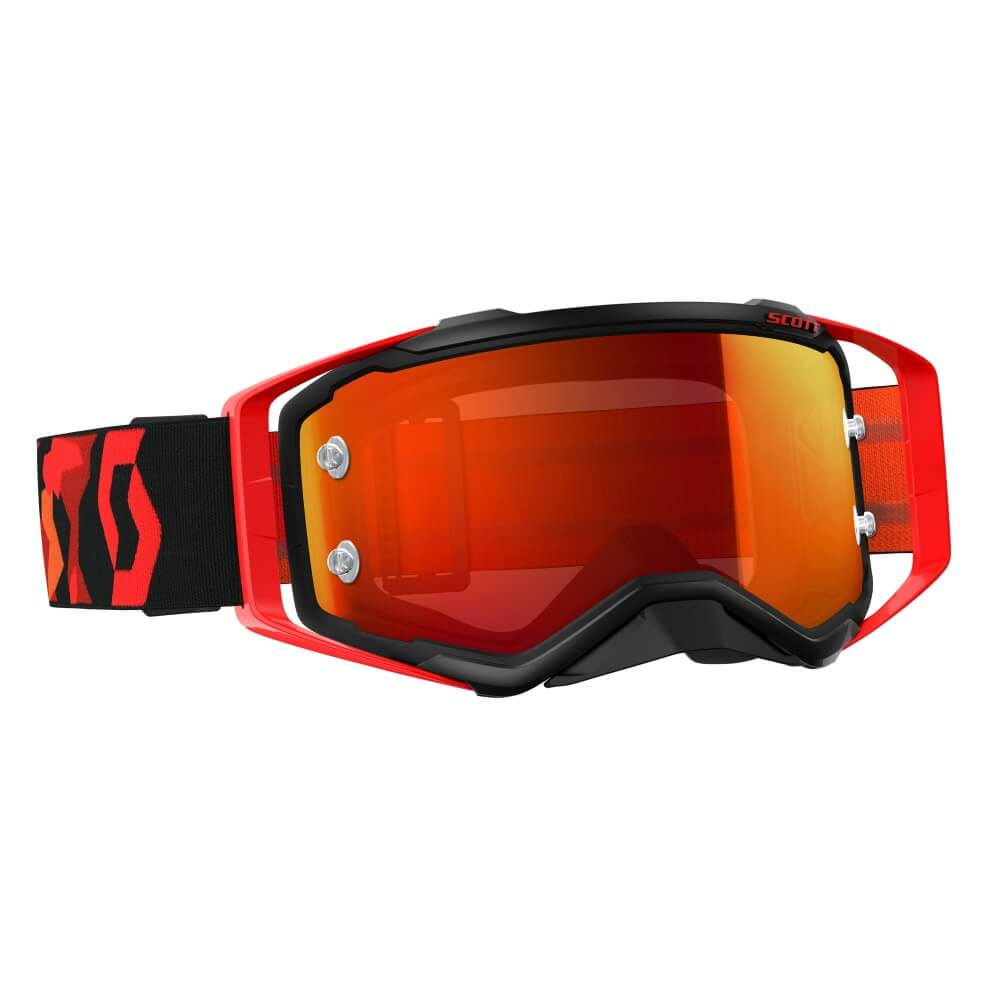 Moto brýle SCOTT Prospect MXVII black-fluo red-orange chrome
