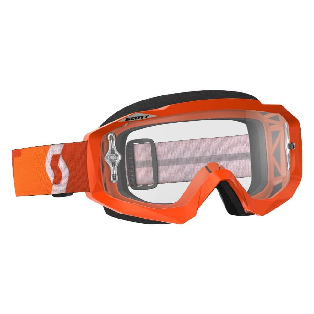 Moto brýle SCOTT Hustle MXVII Clear Orange