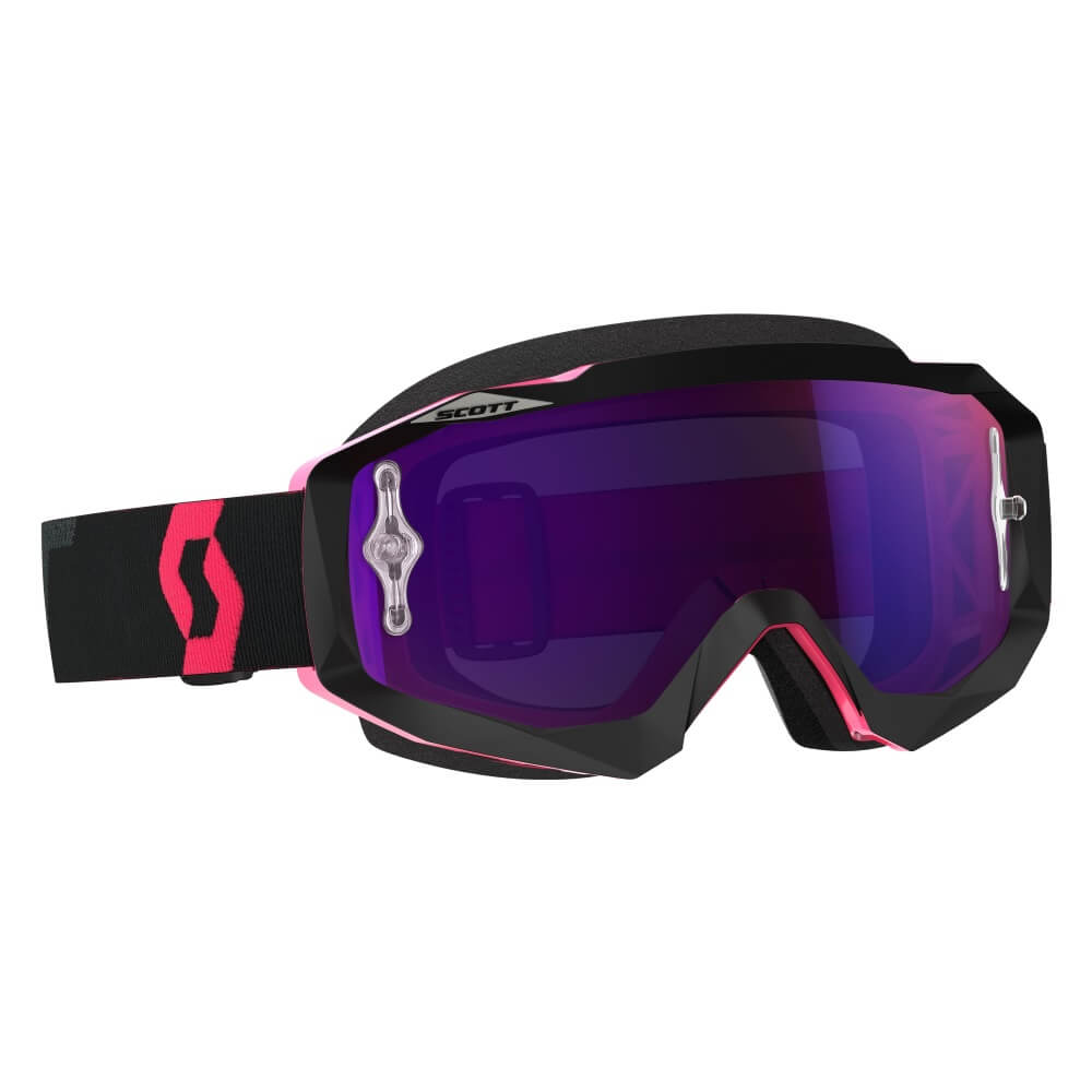 Moto brýle SCOTT Hustle MX CH MXVII black-fluo pink-purple chrome