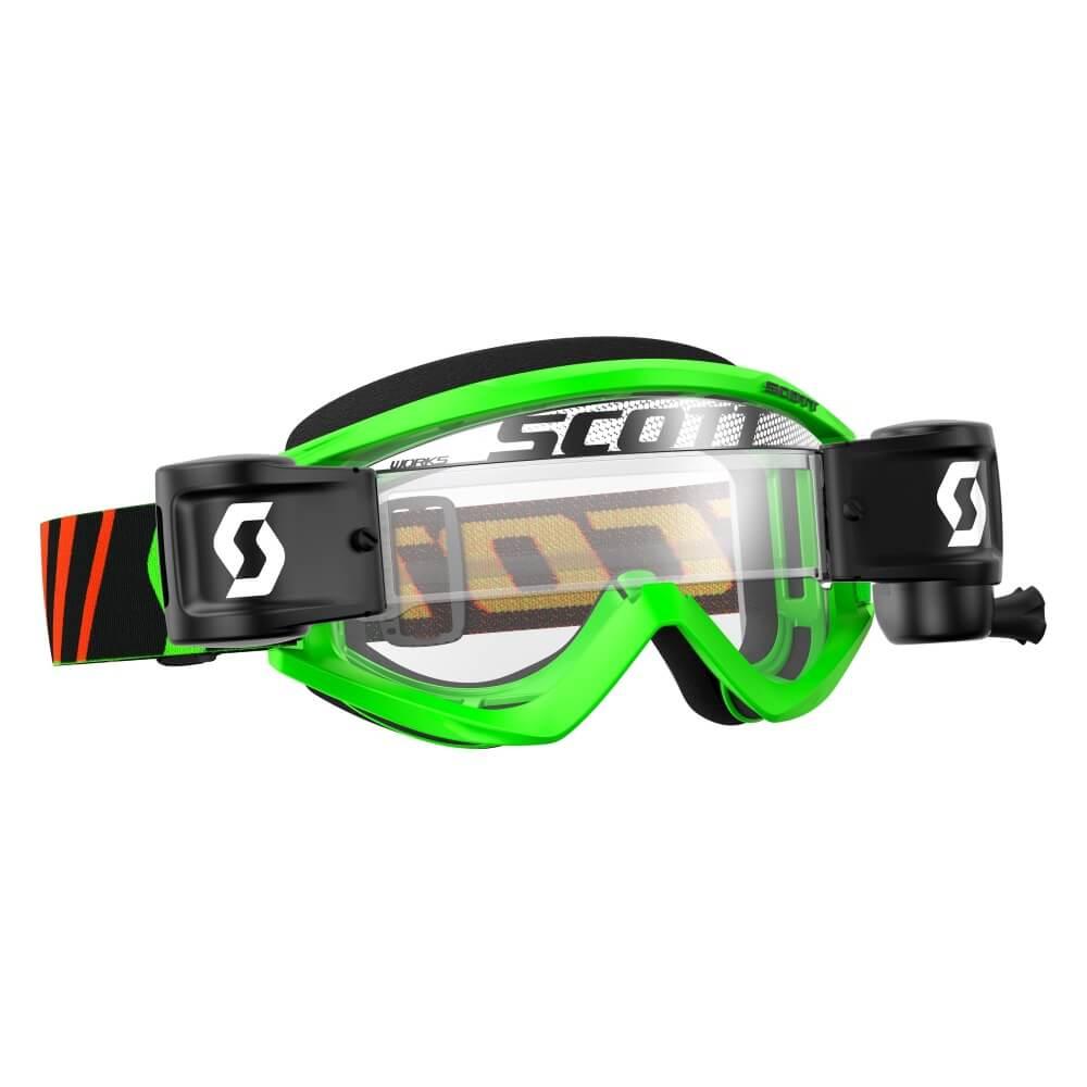 Motokrosové brýle SCOTT Recoil Xi MXVII WFS Clear Black-Fluo Green