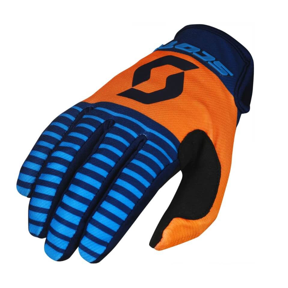 Moto rukavice SCOTT 350 Track MXVII Blue-Orange - M
