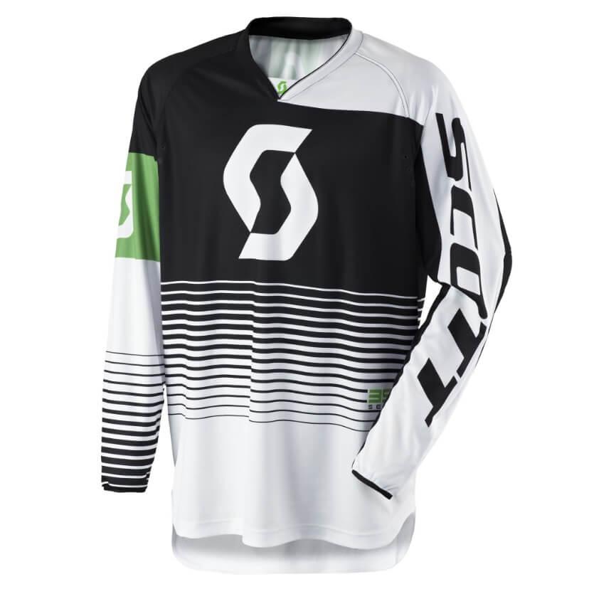 Motokrosový dres SCOTT 350 Track MXVII Black-White - L (50-52)