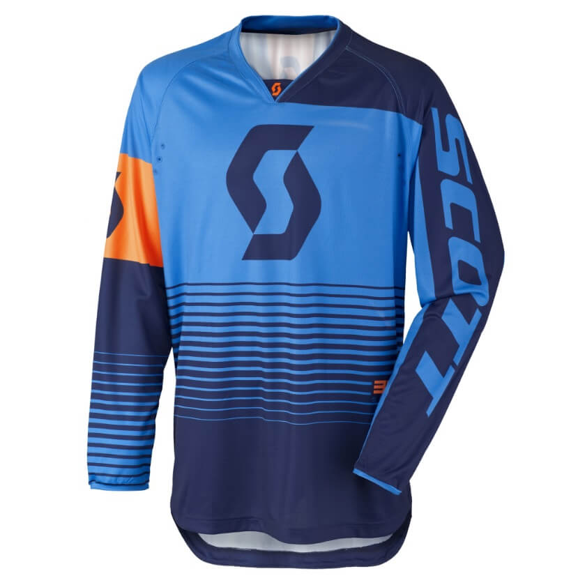 Motokrosový dres SCOTT 350 Track MXVII Blue-Orange - L (50-52)