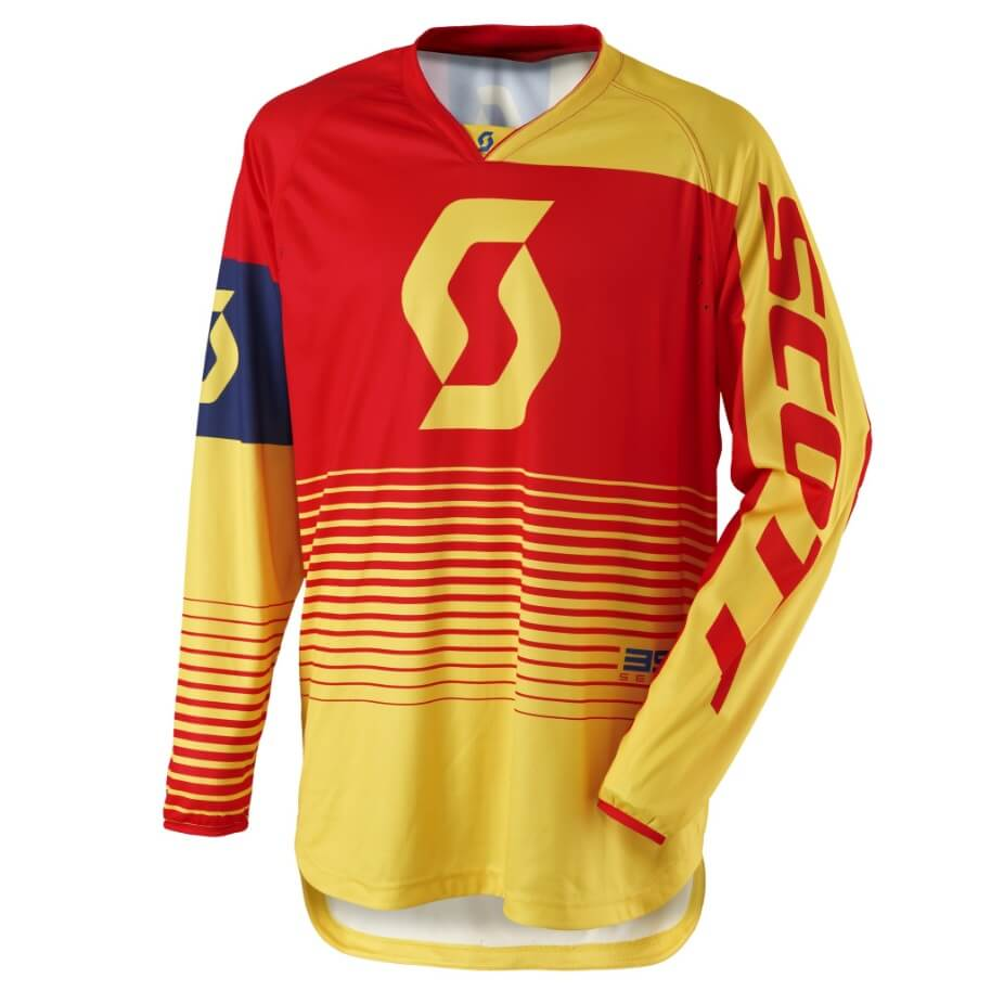 Motokrosový dres SCOTT 350 Track MXVII Yellow-Red - L (50-52)