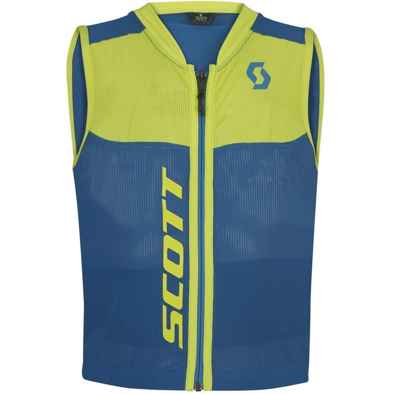 Dětská vesta s chráničem páteře Scott Actifit Plus Jr modrá/zelená - XXS