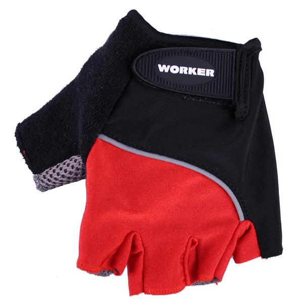 Cyklo a fitness rukavice WORKER S900 červená - XL