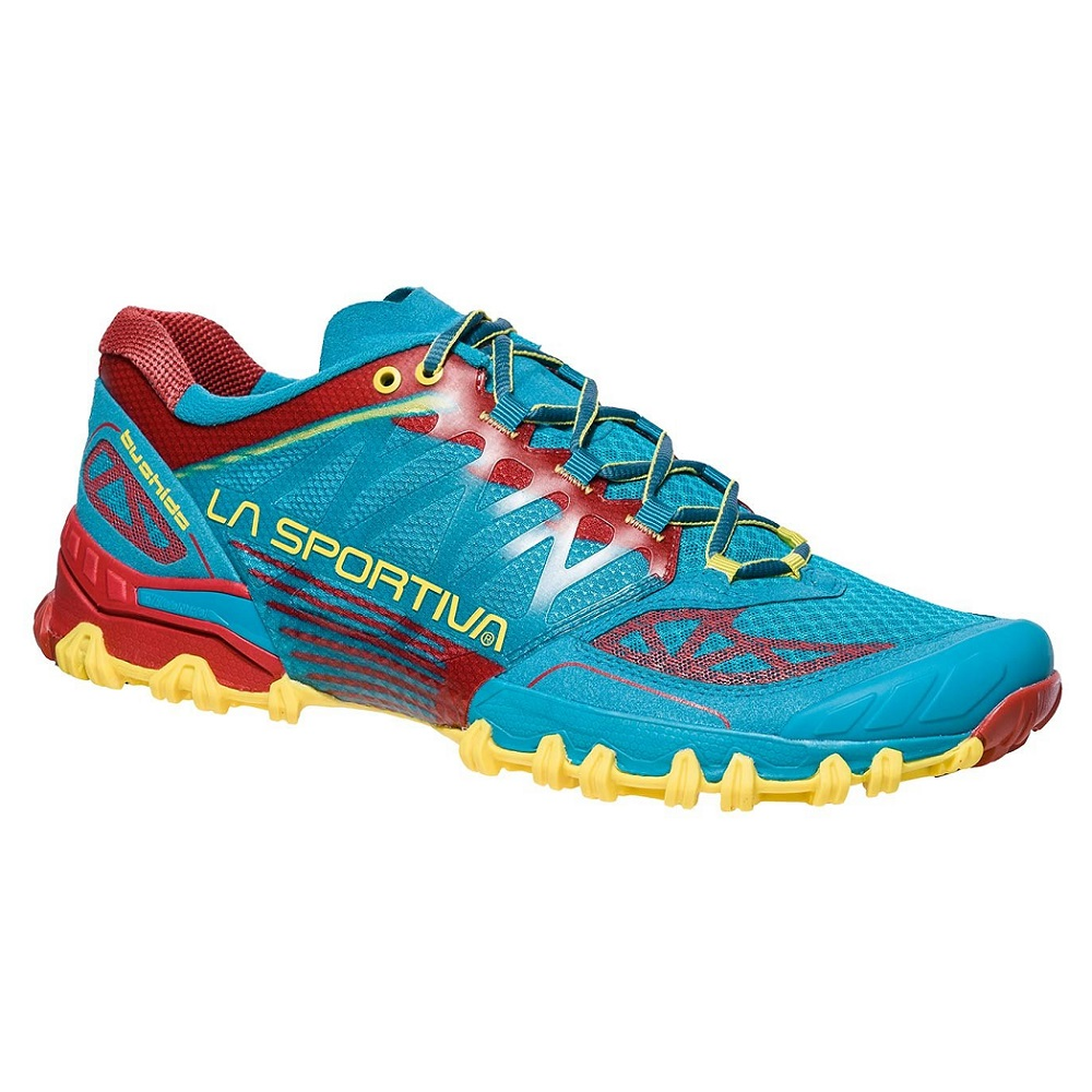 La Sportiva Bushido Men Tropical BlueCardinal Red  43