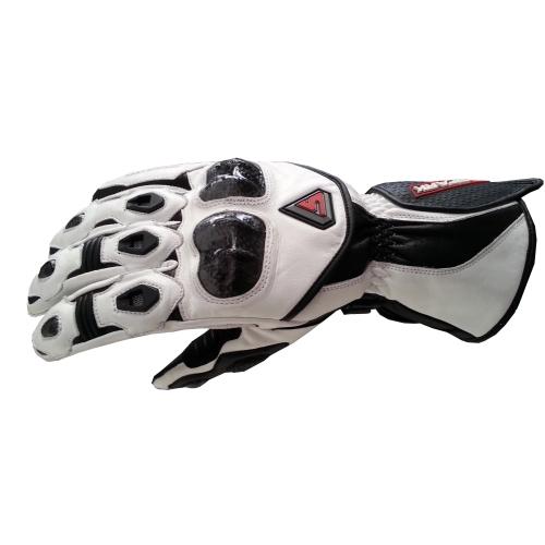 Kožené moto rukavice Spark Elite bílá - M