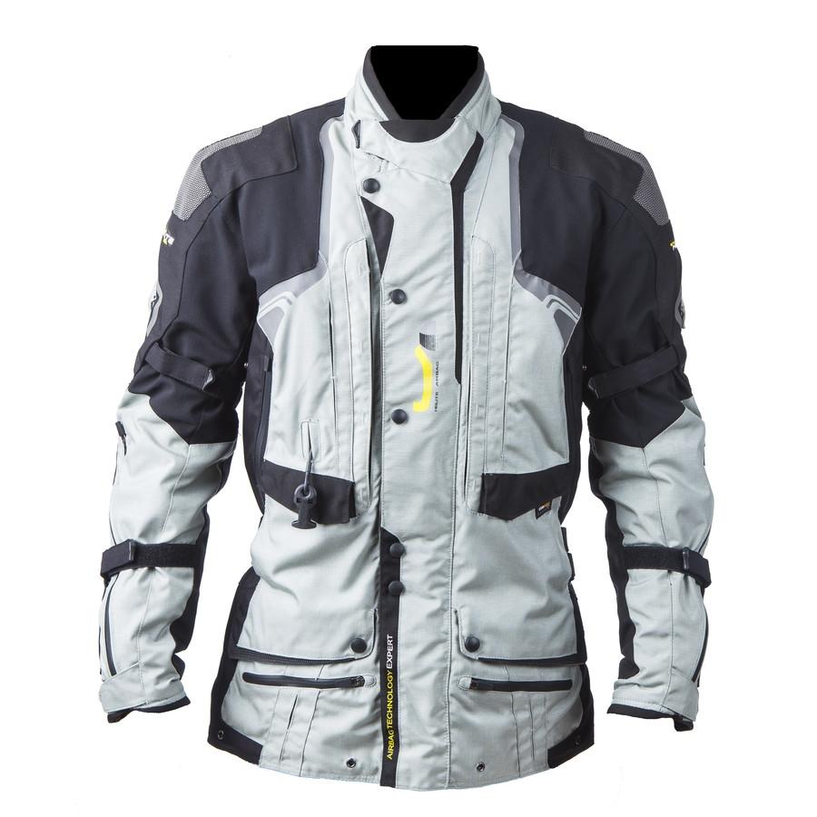 Airbagová bunda Helite Touring textilní šedá - S