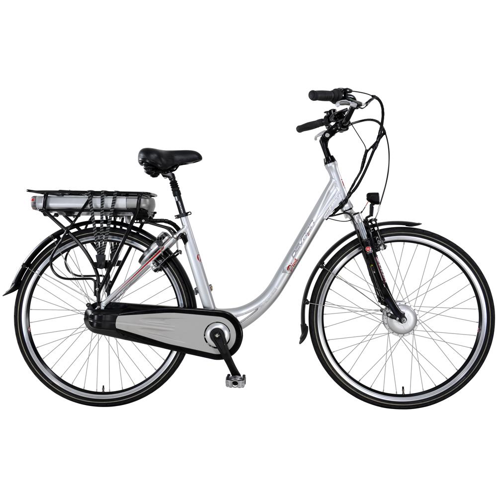 Městské elektrokolo inSPORTline Devron Éco Diva 28004 - model 2014 stříbrná - Záruka 10 let