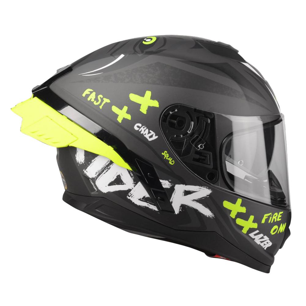 Moto přilba Lazer Rafale SR Ride Oni (Black-Grey-Yellow Fluo-Matt) - XS (53-54) - Záruka 5 let