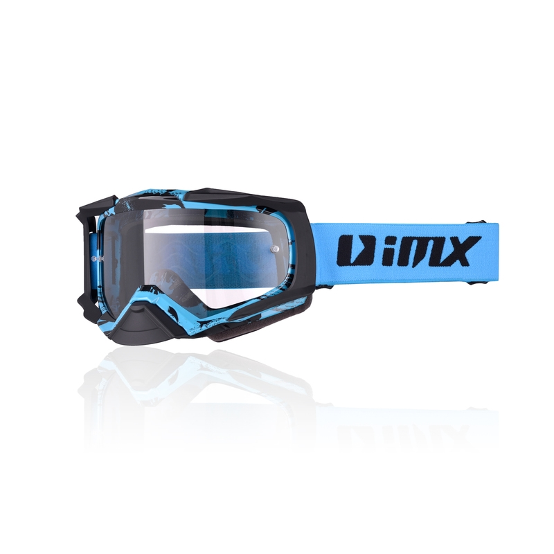 Motokrosové brýle iMX Dust Graphic Blue-Black Matt
