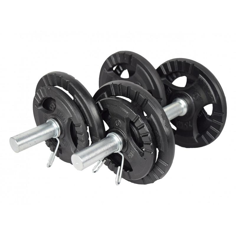 Jednoruční nakládací činkový set KAWMET 2x10 kg