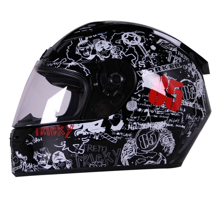 Moto helma WORKER V192 černá - XL (61-62)