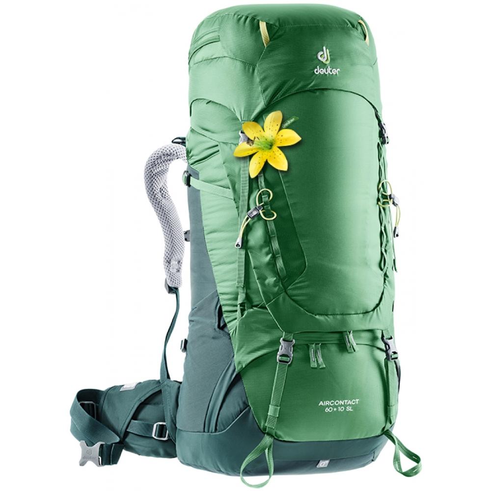 Expediční batoh DEUTER Aircontact 60 + 10 SL leaf-forest