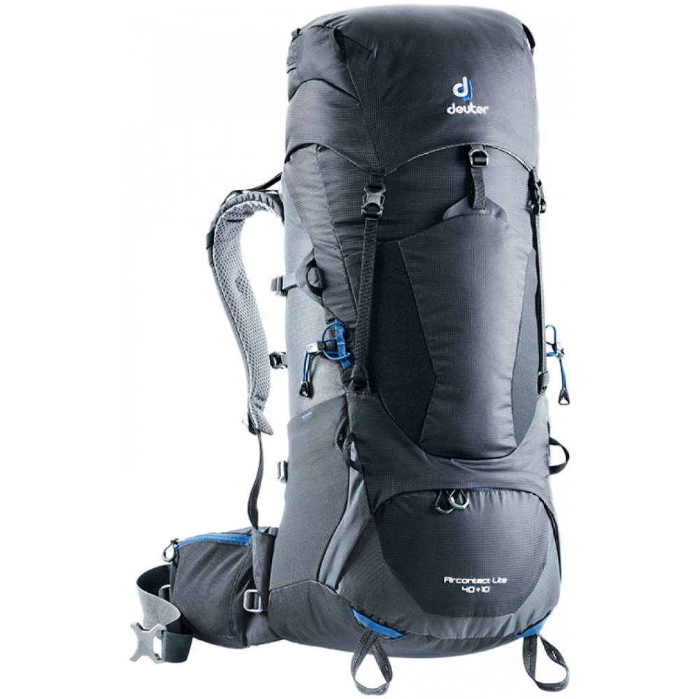 Turistický batoh DEUTER Aircontact Lite 40 + 10 black-graphite f349dc475a