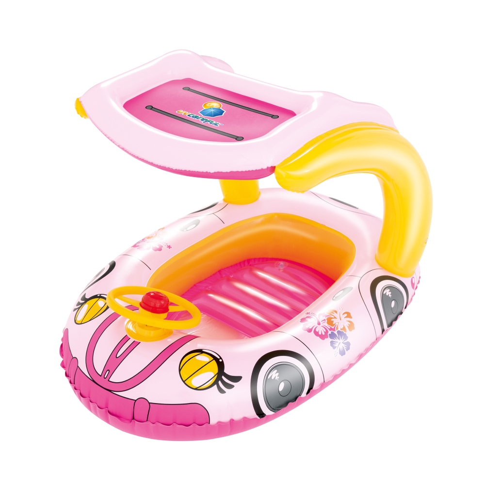 Plovoucí auto Bestway Kiddie Car růžová