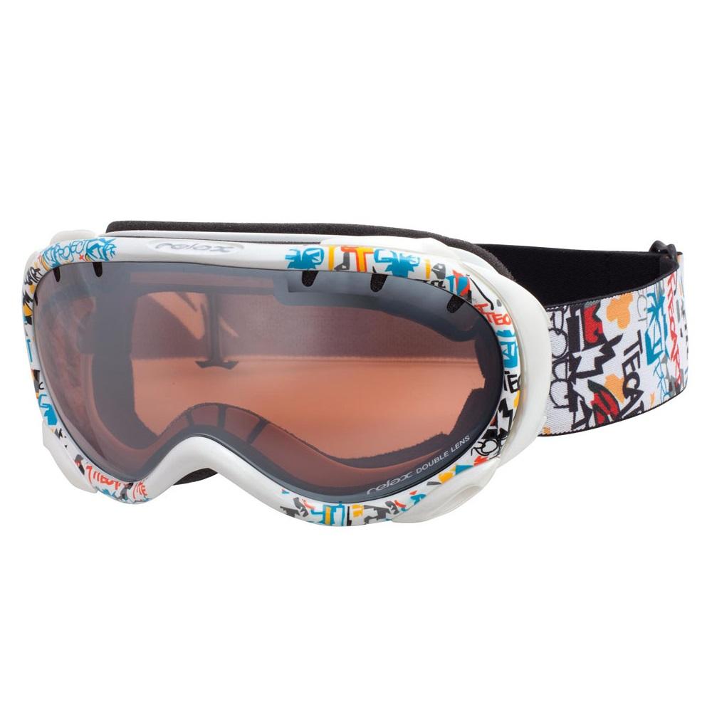 Lyžařské brýle RELAX Snowflake bílý grafit