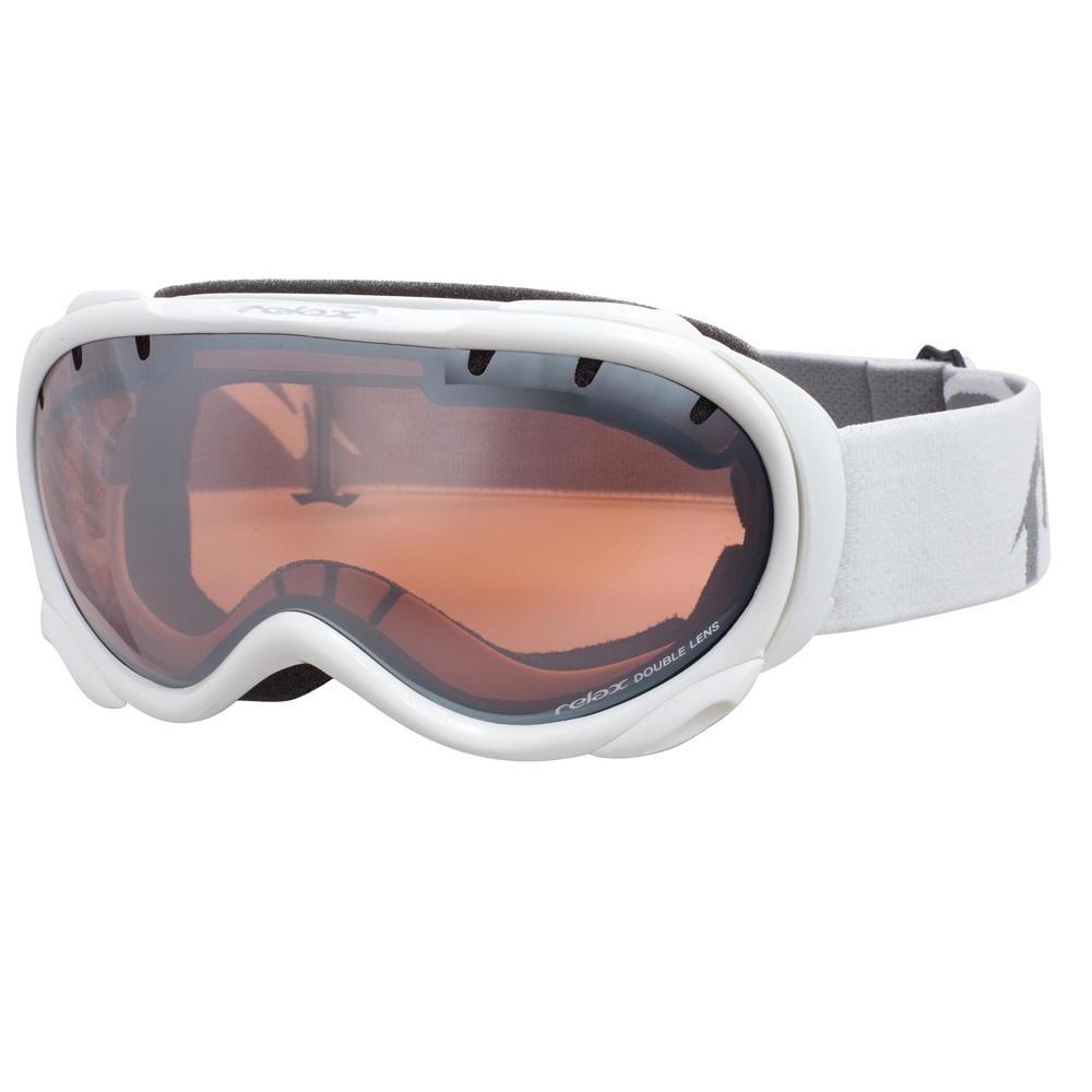 Lyžařské brýle RELAX Snowflake bílá