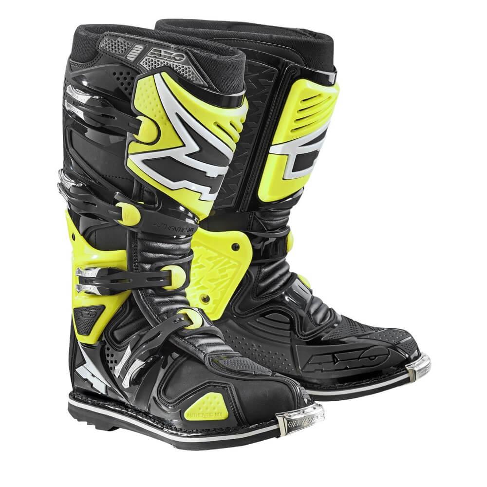 Motokrosové boty AXO A2 fluo yellow - 43