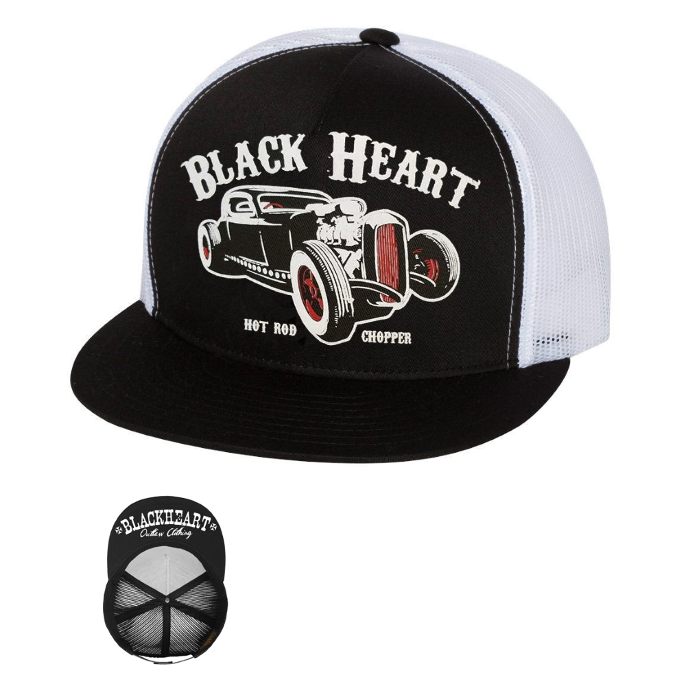 BLACK HEART Rat Rod Trucker bílá