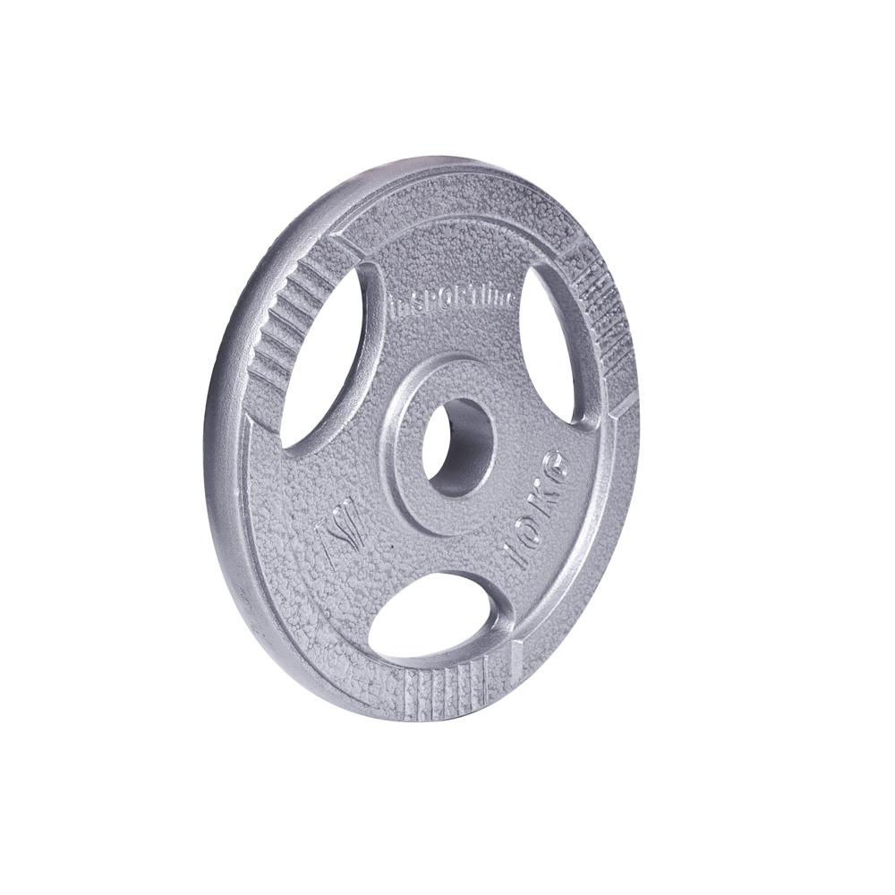 Ocelový olympijský kotouč inSPORTline Hamerton 10 kg