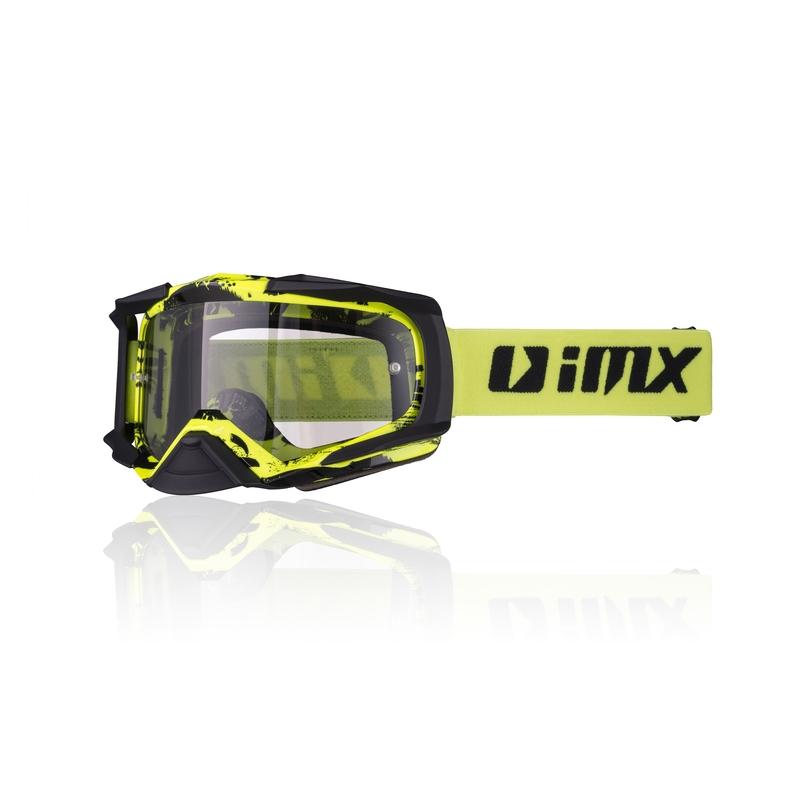 Motokrosové brýle iMX Dust Graphic Fluo Yellow-Black Matt