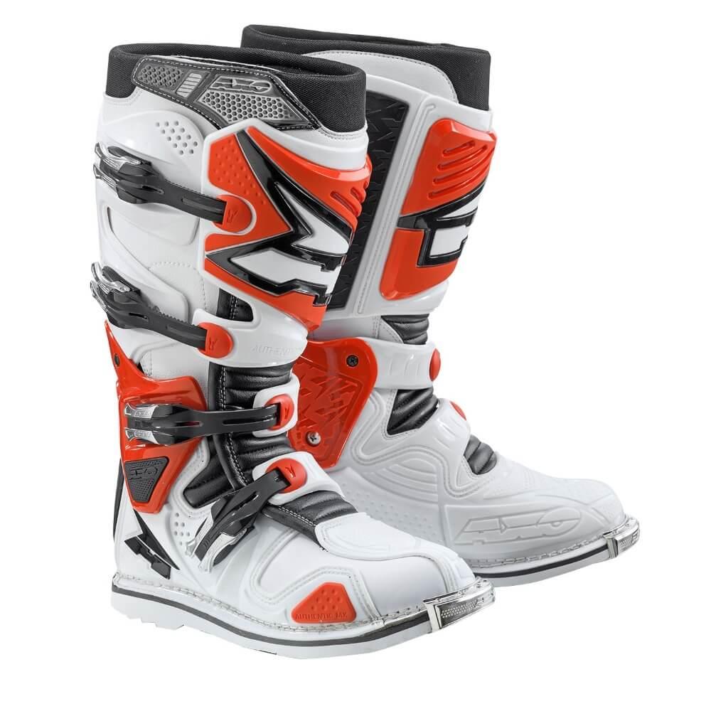 Motokrosové boty AXO A2 bílo-červená - 44