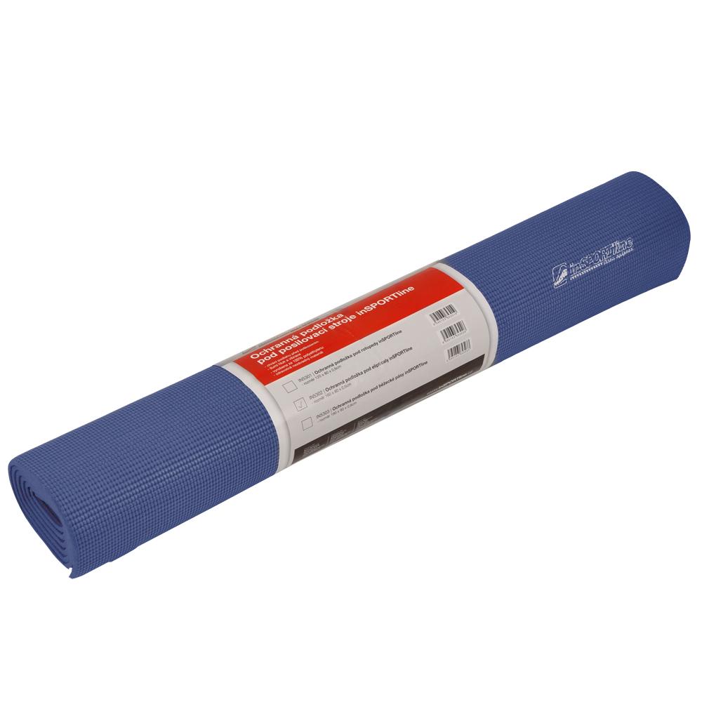 Univerzální ochranná podložka inSPORTline 190 x 90 x 0,6 cm modrá
