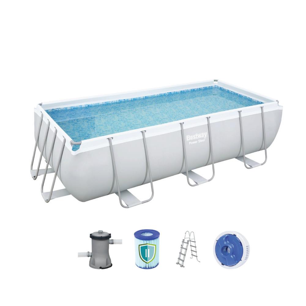 Obdélníkový bazén Bestway Power Steel 404 x 201 x 100 cm s filtrací