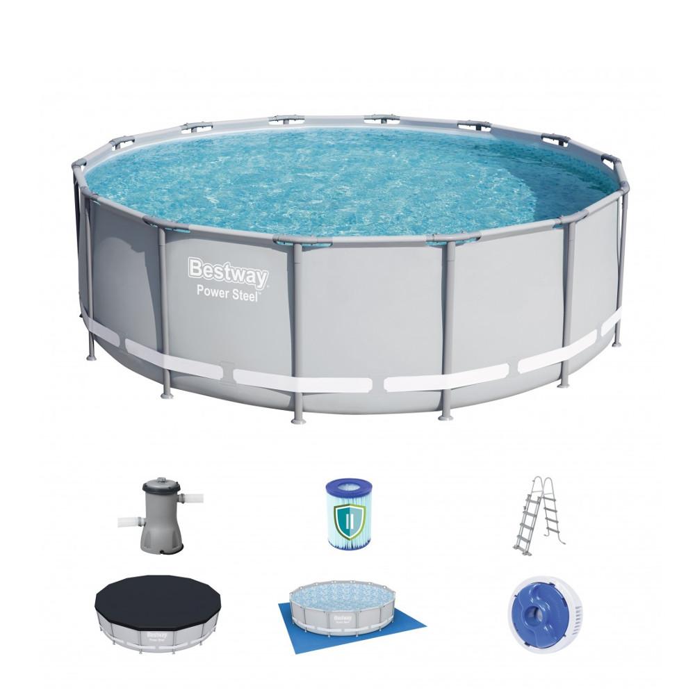 Bazén Bestway Power Steel 427 x 122 cm s filtrací