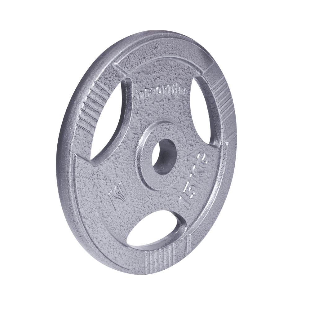 Ocelový olympijský kotouč inSPORTline Hamerton 15 kg