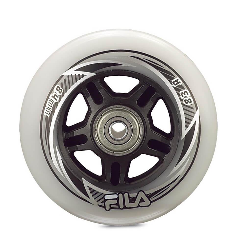 Inline kolečka FILA 80 mm/82A s ložisky ABEC 5, spacer 6 mm 8ks