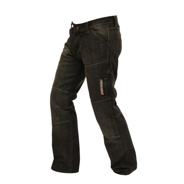 Pánské jeansové moto kalhoty Spark Track černá - M